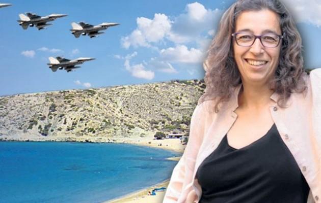 Τα ελληνικά F-16 ενοχλούν τη ΣΥΡΙΖΑία δήμαρχο Γαύδου!
